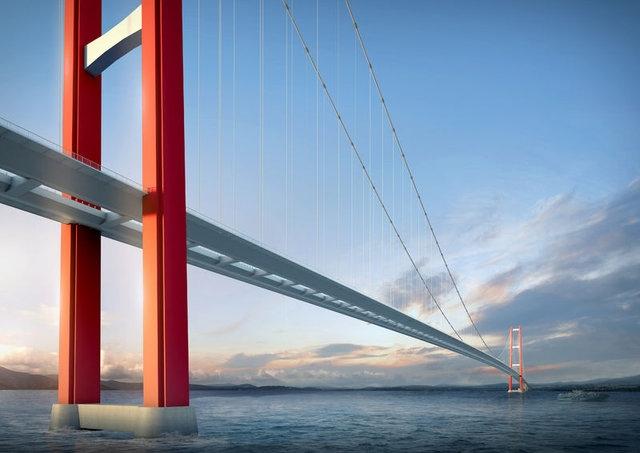 1915 Çanakkale Köprüsü'nde çalışmalar son sürat devam!