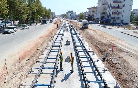 Antalya 3. Etap Raylı Sistem Projesi'nde inşaat sürüyor!