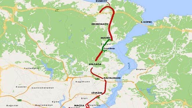 Dolmabahçe-Levazım-Baltalimanı-Ayazağa Tünelleri güzergahı!