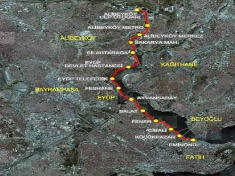 Eminönü-Alibeyköy Tramvay Hattı 2019'da tamam!