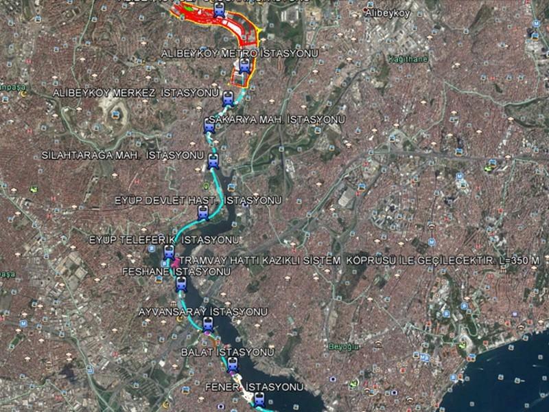 Eminönü-Alibeyköy Tramvay Hattı'nda kazık çalışmaları başladı!