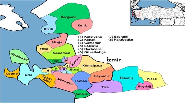 İzmir Haritası - İzmir'de nerede kalınır