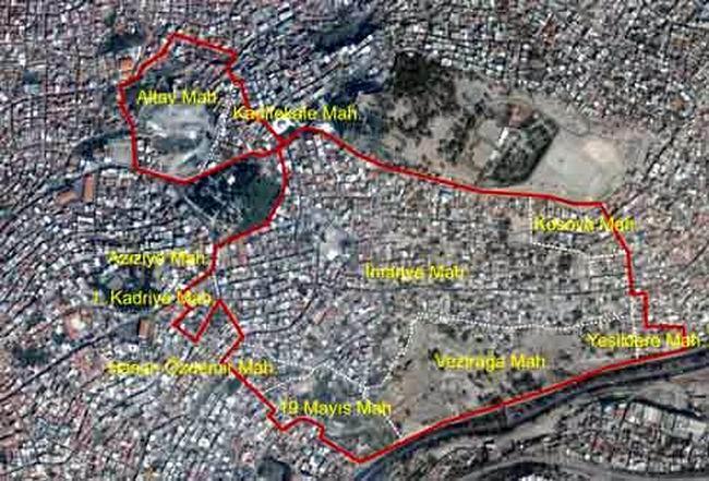 Kentsel dönüşüm proje alanı